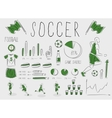 soccerfootball inforgrapic vector image vector image