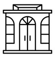 street shop icon outline style vector image
