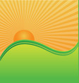 sun and waves background vector image vector image