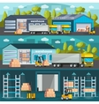 Warehouse Horizontal Banners Set vector image vector image