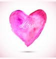 watercolor-pink-love vector image vector image