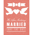 Wedding design over pink background vector image vector image