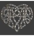Celtic heart intertwine knot ethnic symbol vector image