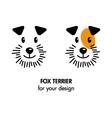 Fox Terrier dog icon vector image