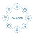 8 balloon icons vector image vector image