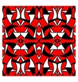 Abstract red geometrical seamless pattern vector image vector image