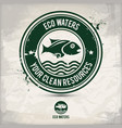 alternative eco waters stamp vector image vector image