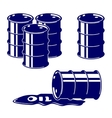 Barrel oil icon set symbol vector image