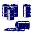 barrel oil icon set symbol vector image