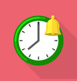 bell clock icon flat style vector image