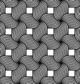 Black and white striped ribbons four turn vector image vector image