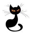 black cat silhouette vector image