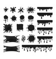 black drops set vector image vector image