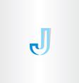 blue stylized letter j logo vector image vector image
