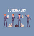 bookmakers men with money vector image vector image