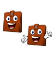 Brown leather purse vector image vector image