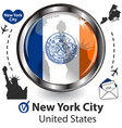 card with new york city us vector image vector image