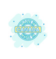 cartoon colored made in canada icon in comic vector image