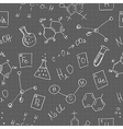 chemistry doodles seamless pattern vector image