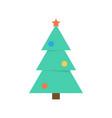 christmas tree icon flat style vector image