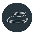 clothes iron isolated icon vector image