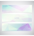 Colorful Horizontal Set Of Banners With vector image