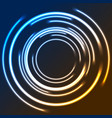 colorful neon glowing circles abstract logo design vector image vector image