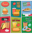 Comic Fast Food Mini Posters Collection vector image