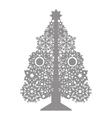 contour Christmas trees can be cut vector image vector image