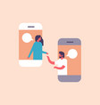 couple chat bubbles mobile application vector image vector image