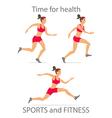 dancing girl red sports pants Cartoon flat vector image vector image