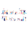 diverse party characters fun festival people vector image vector image