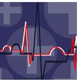 echo cardio gram vector image vector image