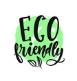 eco friendly sign round vegan green logo vector image