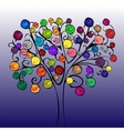 Fairytale tree with bright fruits vector image vector image