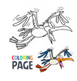 flying bird cartoon coloring page vector image