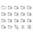 folder related icon set vector image