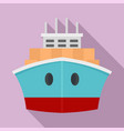 front container ship icon flat style vector image vector image