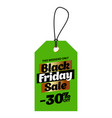 green tag black friday sale with a 30 percent vector image vector image
