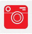 hipster photo camera icon design vector image