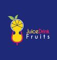 juice drink fruits logo design template vector image vector image