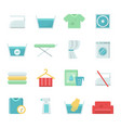 laundry symbols icons set for laundry and vector image