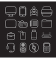 line craft icons for business with computer theme vector image vector image