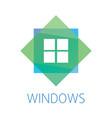 logo on the theme of windows doors vector image