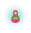 Matryoshka icon in comics style vector image