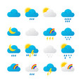 meteorology signs and weather vector image