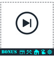 next track icon flat vector image vector image