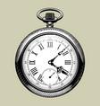 old clock face retro pocket watch vector image vector image