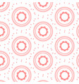 patterned red circles background vector image vector image