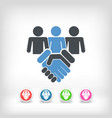 people agreement vector image vector image